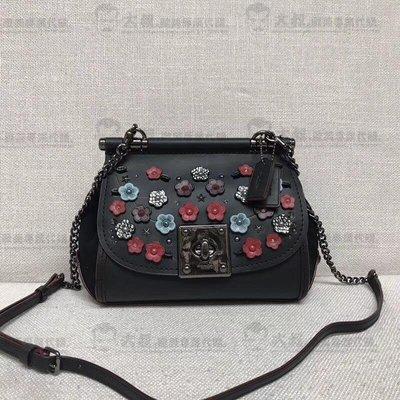 【大叔歐美代購】COACH 59524 新款枊穗貼花鉻葇皮革DRIFTER 手提包 時尚精品 美國連線代購