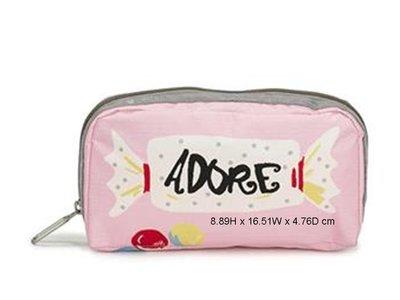 [美國精品屋] 美國 LeSportsac 粉紅糖果化妝包