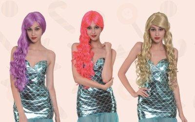 乂世界派對乂 萬聖節服裝/萬聖節假髮/美人魚服裝/美人魚配件/美人魚假髮(送髮網)