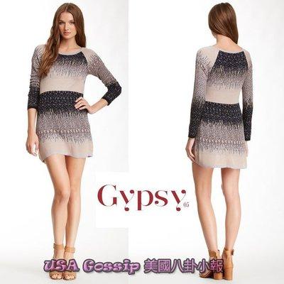 ㊣ 美國八卦小報 ㊣ GYPSY 05 本季主打款雪花漸層柔軟針織洋裝 現貨在台