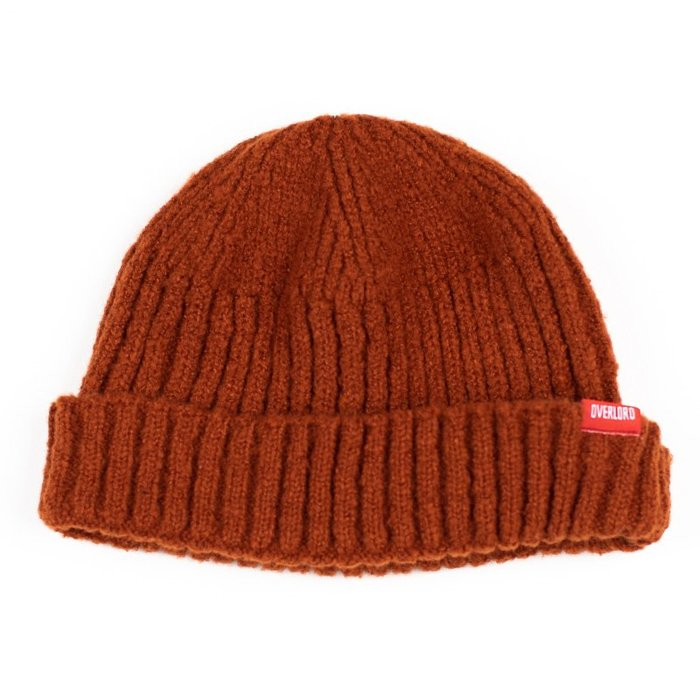 OVERLORD SKATEBAORDS CLASSIC BEANIE 素面 圓頂 針織 短毛帽 『咖』