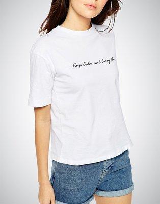 Keep Calm and Carry On草繪字樣設計T恤