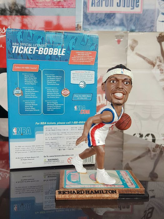 《金塊》NBA活塞 RICHARD HAMILTON搖頭公仔 FOREVER 限量編號 收藏