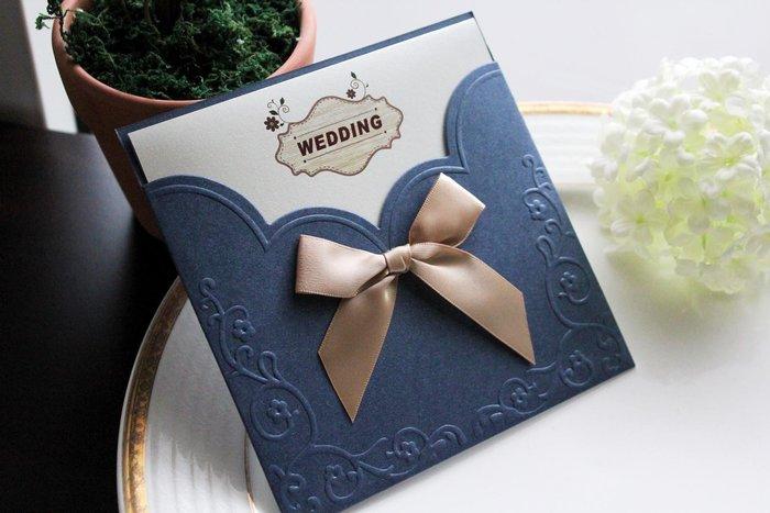 『潘朵菈精緻婚卡』影像設計喜帖 ♥ 緞帶18元喜帖系列 ♥ 喜帖編號:W-21886