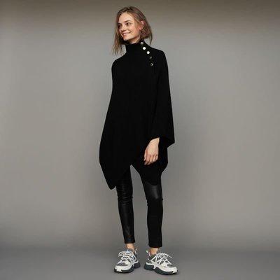 現貨s美國代購Mother SALE單排金釦羊毛斗篷式外套 名媛 聖誕 過年 約會 歐美品牌SML