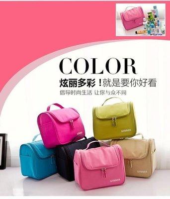 日和生活館 化妝包 大號化妝包手提洗漱包便攜旅行化妝箱簡約化妝品收納包 S686