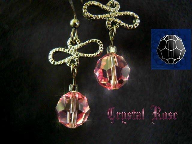 ※水晶玫瑰※ SWAROVSKI 8mm水晶珠 耳勾式針式耳環(DD345)~出清~三對免郵
