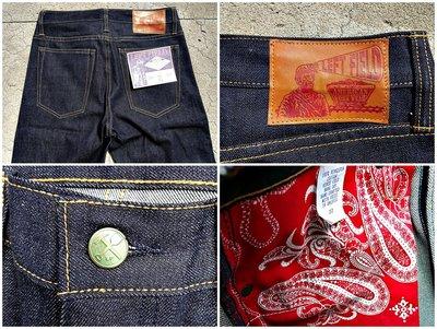 西方不敗美國製手工Left Field 13oz Cone Mills Chelsea 原色錐形牛仔褲 養褲 全尺寸到