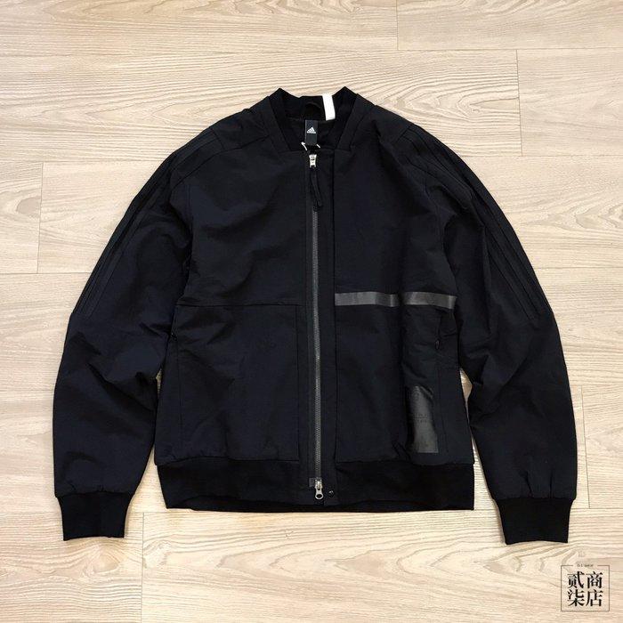 (貳柒商店) adidas ID Jacket Bomb 男款 黑色 刷毛 外套 廣告款 防風 FJ0246