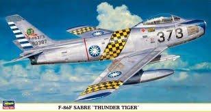 【HASEGAWA 09349】1/48 中華民國 F-86F SABRE 軍刀式戰機 THUNDER TIGER 塗裝