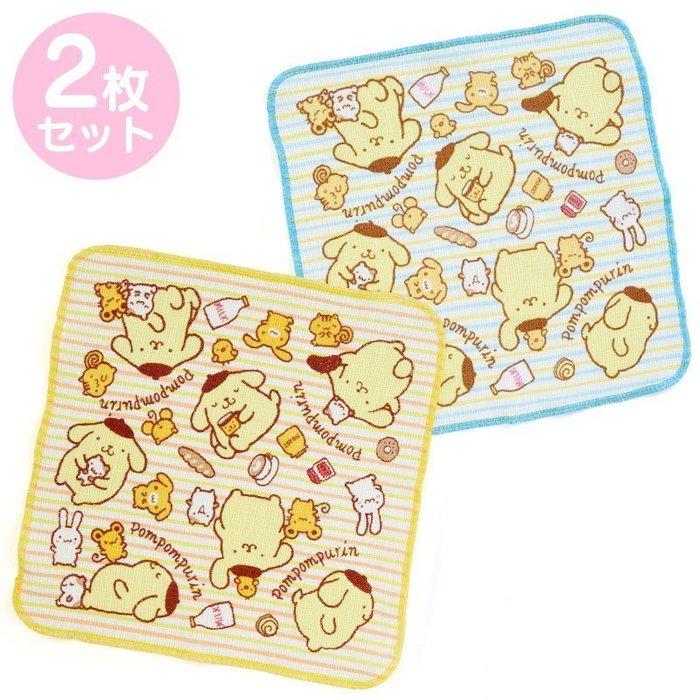 三麗鷗Sanrio《現貨》PN加ABW 布丁狗 Pom Purin 純棉餐具擦巾 廚房抹布~2入一組~日本正品~心心小舖