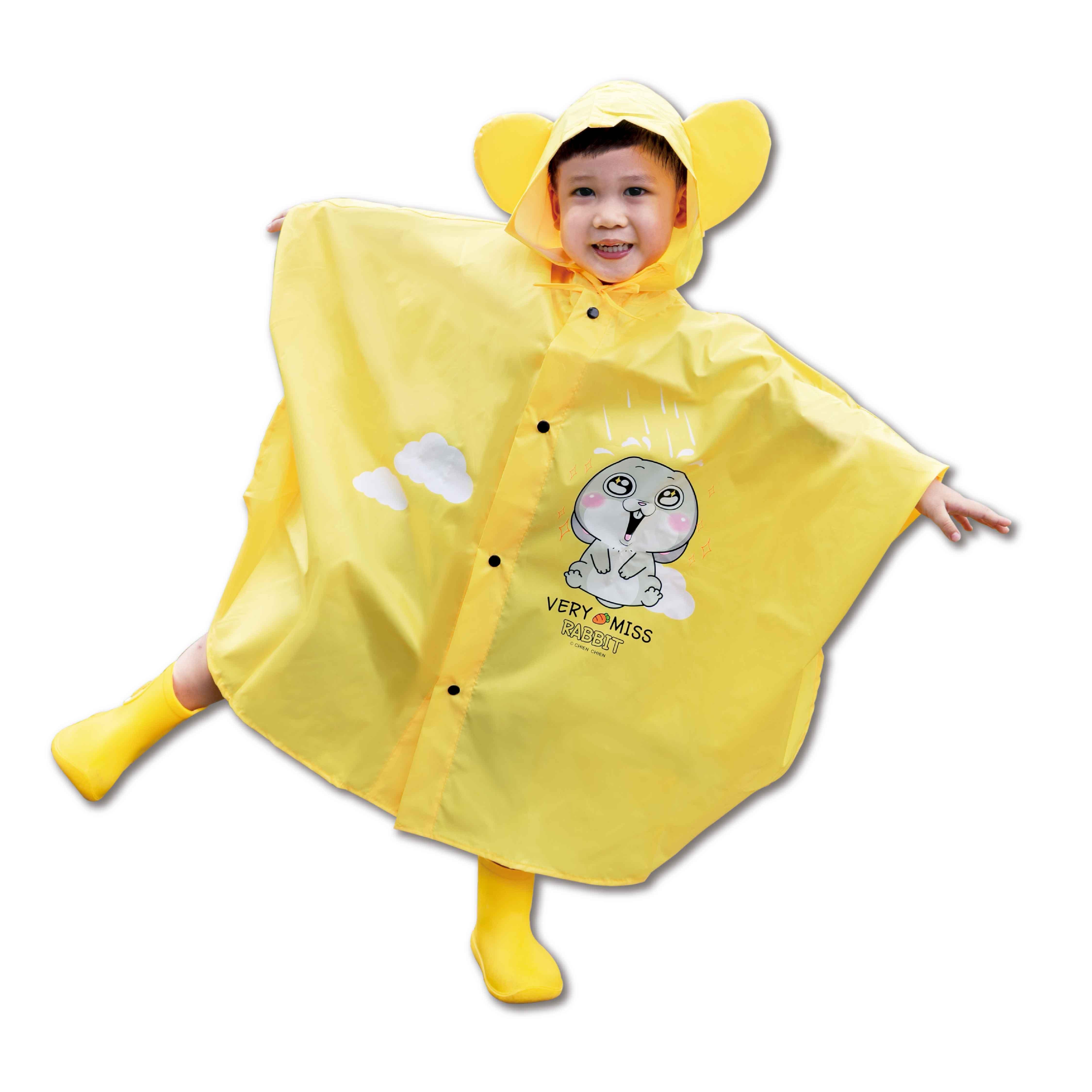 【謙謙創藝×好想兔】晴天雨兒童雨衣 兒童雨衣 可愛雨衣 雨衣【JC科技】