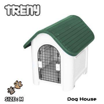 【TRENY直營】TRENY 塑膠狗屋-中款-軍綠 狗屋 狗籠 貓屋 寵物的家 通風 403-G