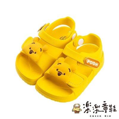【樂樂童鞋】D035 - 迪士尼小熊維尼防水涼鞋 現貨 台灣製 MIT 小童鞋 兒童涼鞋 Disney 小熊維尼 拖鞋