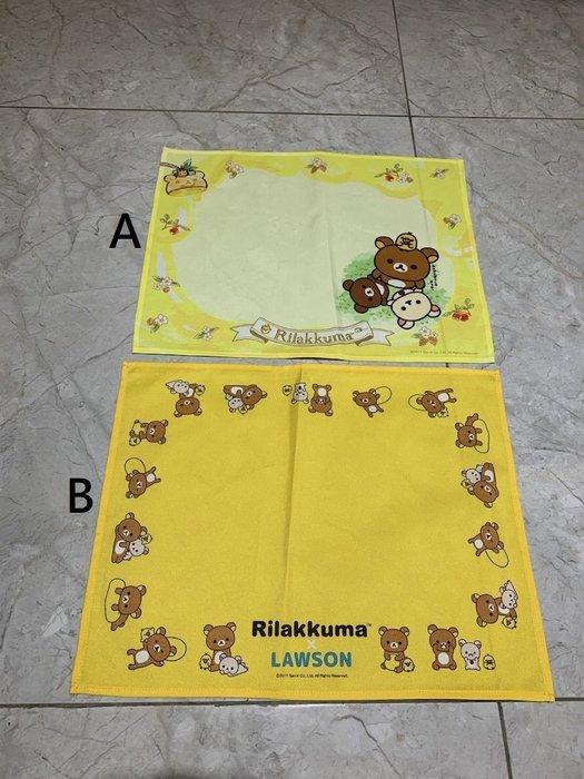 ☆Juicy☆日本超商 限定 Rilakkuma 拉拉熊 懶懶熊 熊哥 蜂蜜熊 餐墊 桌墊 蓋布 萬用布 墊子 3038