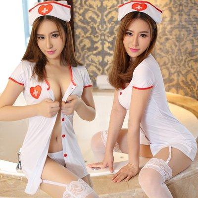 〖免運〗大碼小護士制服極度誘惑性感胖妹妹激情套裝角色扮演情趣內衣 【柒】