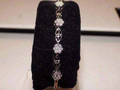 陳瓊文珠寶 天然鑽石手鍊