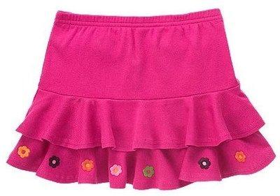 (((出清特價))) 全新 ~ GYMBOREE 桃紅色繡花蛋糕裙 (12yrs) **褲裙**
