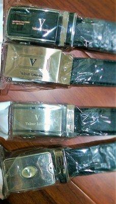 便宜 Valour Lisanza 精緻風格 尊貴表現 合成皮 西裝自動皮帶 黑色