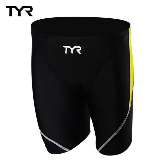 ~有氧小舖~ 美國品牌 TYR 男用訓練及膝泳褲Ray Jammer Yellow