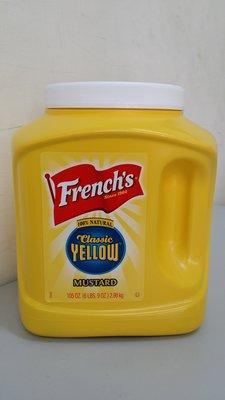 美國進口~【FRENCH'S】黃色芥末醬 105oz /罐$225~