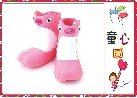Polliwalks童鞋-Penguin企鵝兒童雨靴~黑色/粉色~超可愛免運費~◎童心玩具1館◎