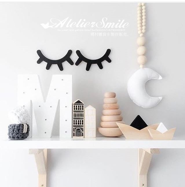 [ Atelier Smile ] 鄉村雜貨 北歐風 ins手工製 彎彎睫毛 拍照攝影 兒童房裝飾 (現+預)