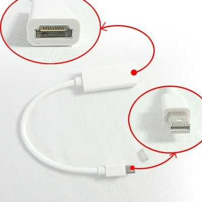 3C嚴選-Mini DisplayPort to HDMI  轉接線 轉接頭 傳輸線 MacBook Pro Air DP 視訊傳輸線 台中市
