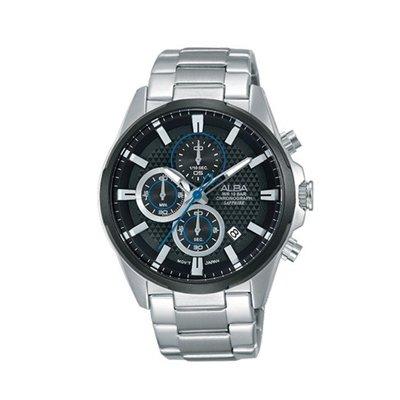 可議價「1958鐘錶城」ALBA雅柏 ACTIVE 男 三眼計時 石英腕錶(AM3343X1) 43mm