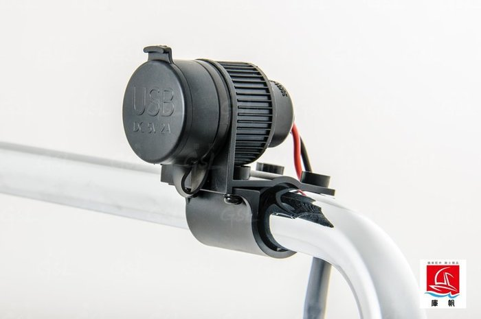 (I LOVE樂多)檔車 重機 通用 雙頭 USB 防水 充電座 3.3A 機車旅遊 業務洽公 導航