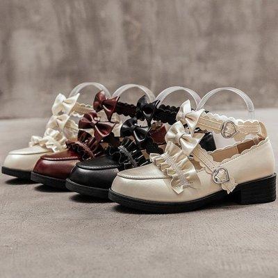 娃娃鞋 洛麗塔梅露露LOLITA鞋基礎款原創夏可愛中跟學生日繫小皮鞋