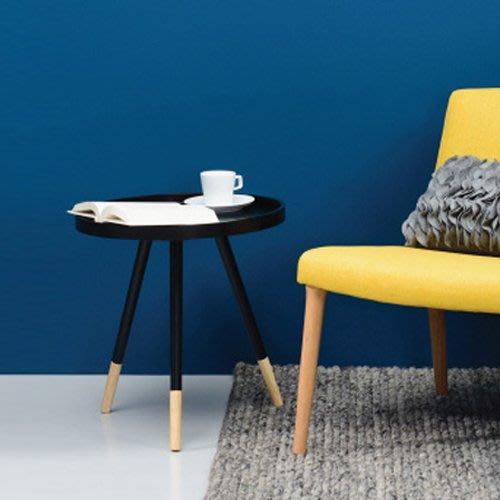 【歐雅系統家具】比約圓形實木茶几 - 黑色 / 現成茶几 / 茶几 / 北歐風