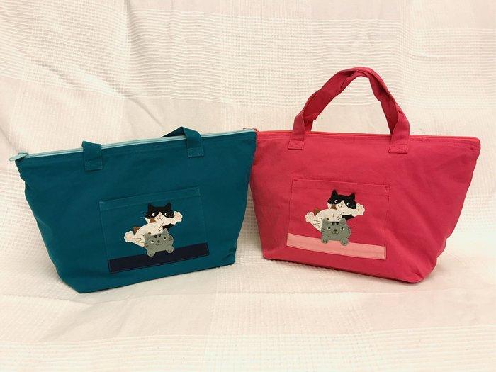 日本卡拉貓~Hello疊疊貓防水手提包 便當袋