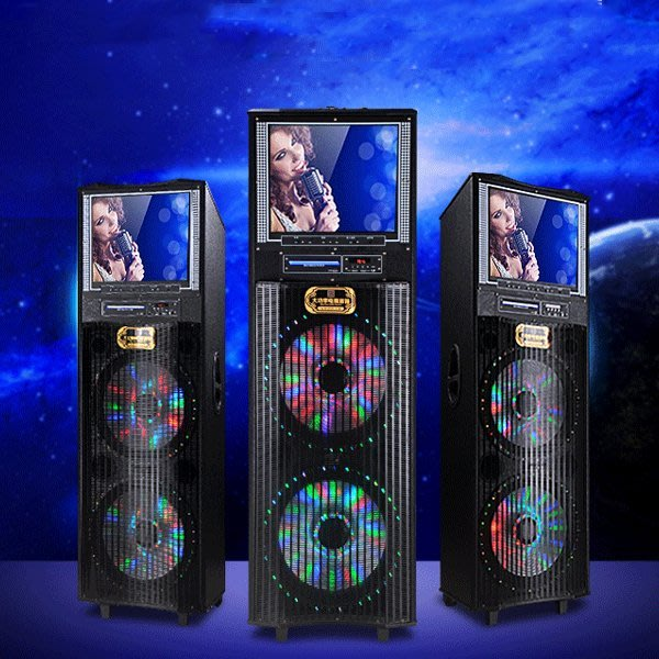 5Cgo【批發】含稅會員有優惠 94166504687 15寸戶外視頻音箱廣場舞音響顯示屏大功率移動音響充電音箱電瓶音響
