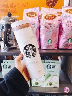 韓國連線✈️ 2018星巴克 大理石保溫杯 500ml Starbucks 星巴克 保溫杯 隨行杯 🌾millimei🌾