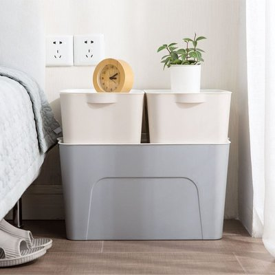 北歐風簡約收納箱 玩具整理箱 廚房浴室衣櫃收納 可堆疊收納【RS701】