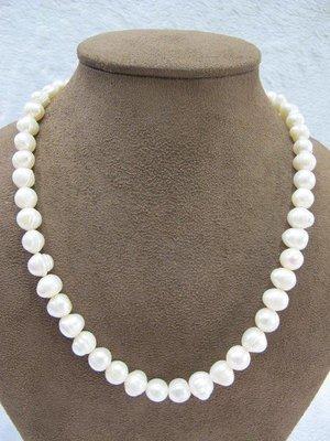 二手舖~ NO.55 天然珍珠手鍊 母親節 項鍊戒指吊墜子首飾手環耳環 (珍珠大小約8mm)