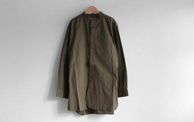 WaShiDa Houston / Officers Shirt 無領長襯衫 軍綠 - 現貨