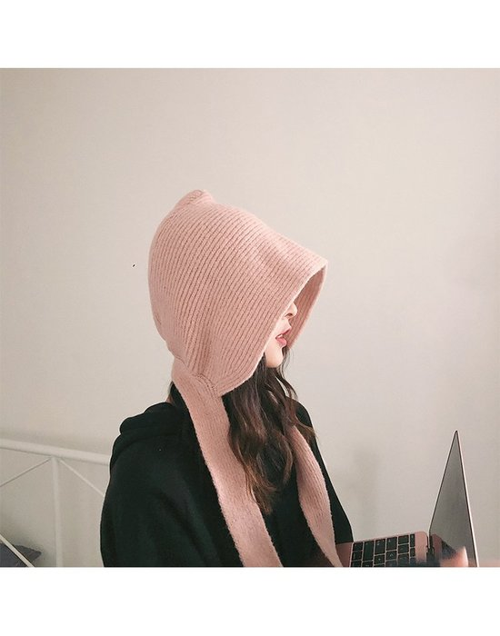 RVP|萌萌小紅帽|多功能針織毛線帽子圍巾護耳毛帽-11247