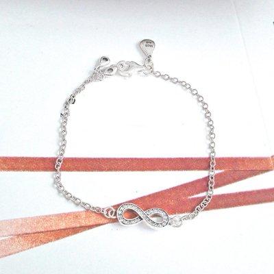凱莉代購 Pandora 潘朵拉 S925純銀 無限簡約鑲鑽手鍊 附提袋 包裝盒 原單商品 預購