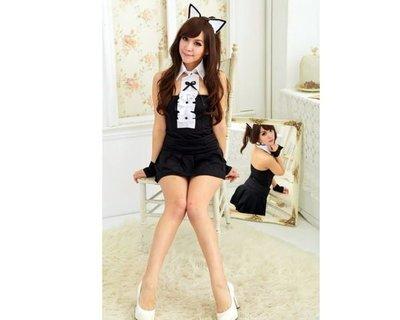 (cosplay-A32)性感神秘黑色貓女郎/護士服/角色扮演/攝影服/制服誘惑/情趣內衣-sybilla