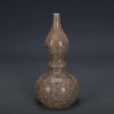 ㊣姥姥的寶藏㊣ 宋代哥窯金絲鐵線支釘葫蘆瓶  出土文物古瓷器 古玩古董收藏