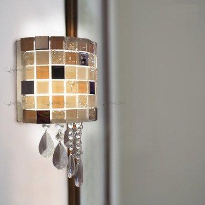 【Lighting.Deco】極簡風 創意造型壁燈 極簡時尚 超質感 光影壁燈 水晶壁燈 床頭 樓梯 走道 壁燈