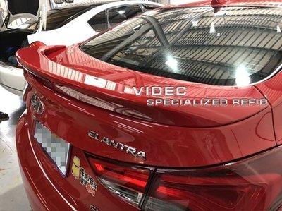 大台北汽車精品 HYUNDAI 現代 12 NEW ELANTRA ABS 尾翼 含LED煞車燈 台灣製造 台北威德
