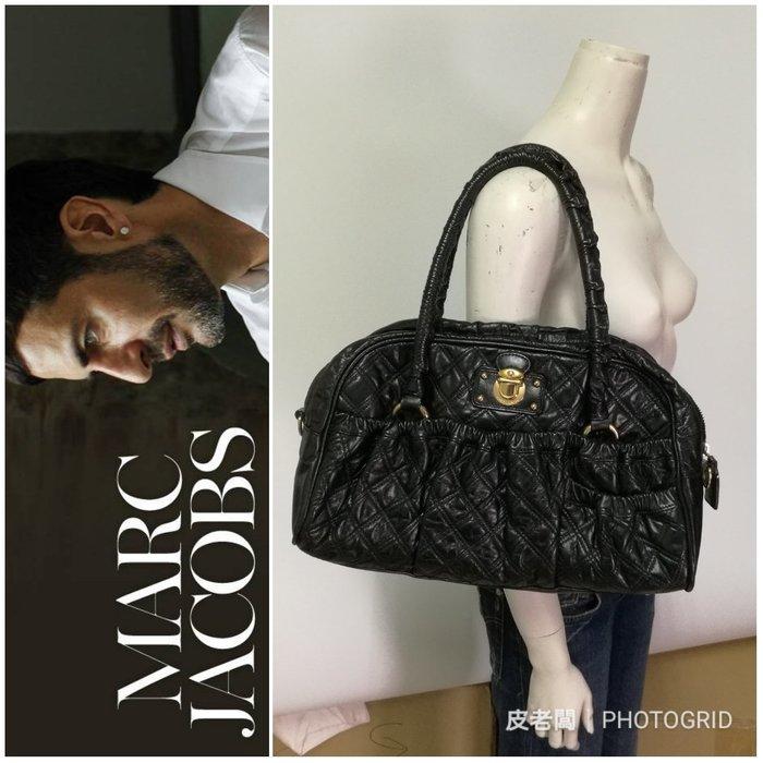 【皮老闆】二手真品 Marc Jacobs 菱格紋 手提包 肩背包 (G)