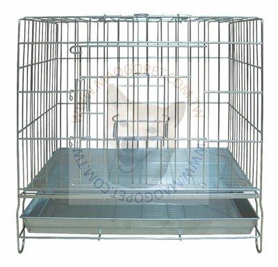 台製 2台尺 固定式不鏽鋼狗籠 不銹鋼寵物室內籠 白鐵線籠 貓籠 2尺(DK-0604)每件2,000元