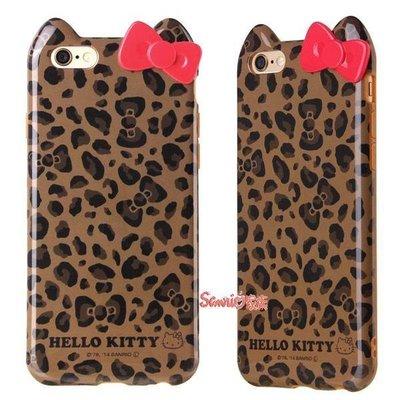 《東京家族》Kitty咖啡色豹紋 iphone 6 手機殼