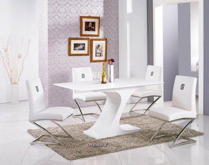 【DH】商品貨號N928-1商品名稱《勝奇》五尺白色原石面餐桌/餐椅(另計)主要地區免運費
