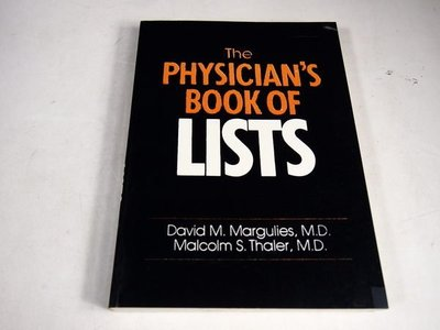 【考試院二手書】《The PHYSICIAN s BOOK OF LISTS》│ 七成新(21D25)