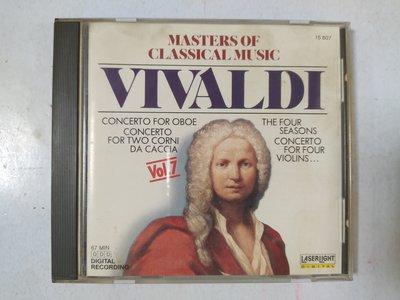 昀嫣音樂(CD22)  MASTERS OF CLASSICAL MUSIC VOL.7 美國壓片 1988年 片況如圖